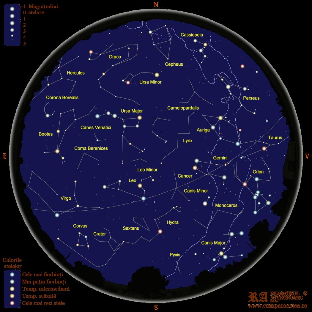Harta Cerului în Aprilie