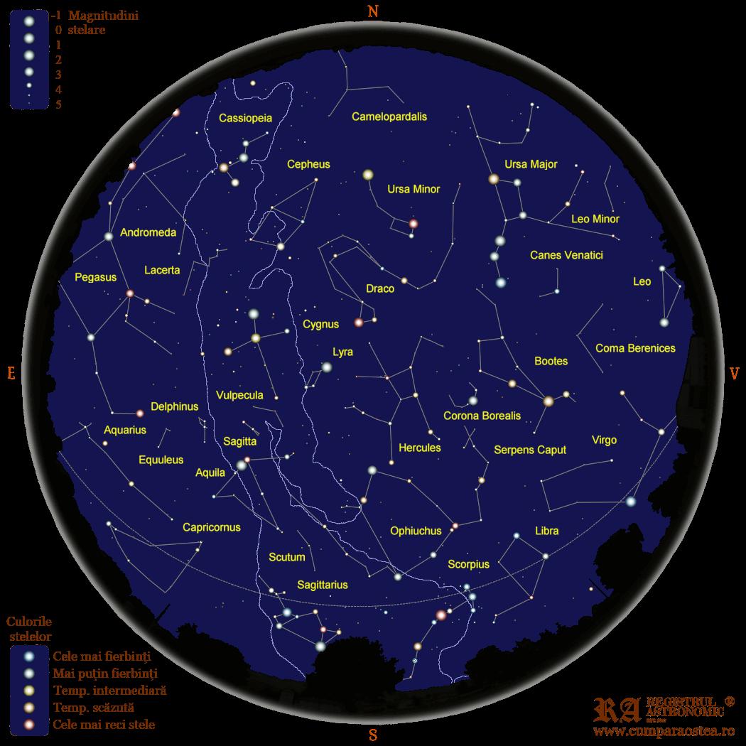 Harta Cerului în August