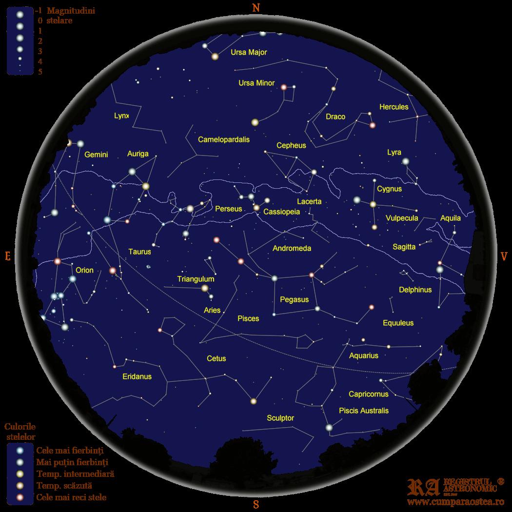 Harta Cerului în Decembrie