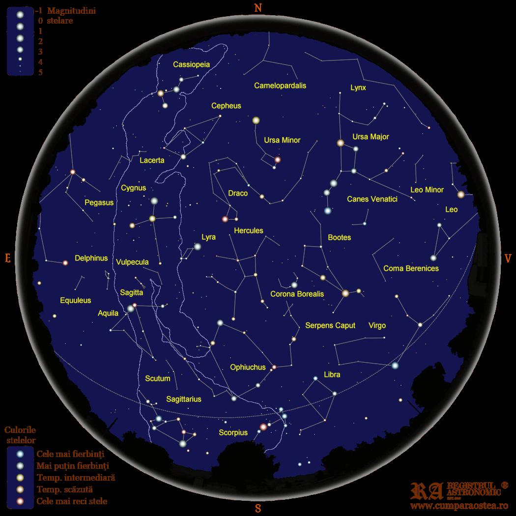 Harta Cerului în Iulie