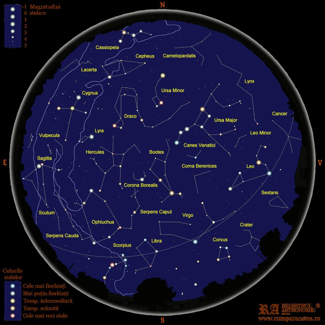 Harta Cerului în Iunie