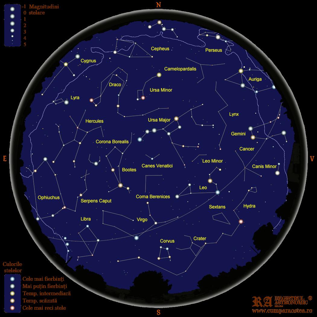 Harta Cerului în Mai
