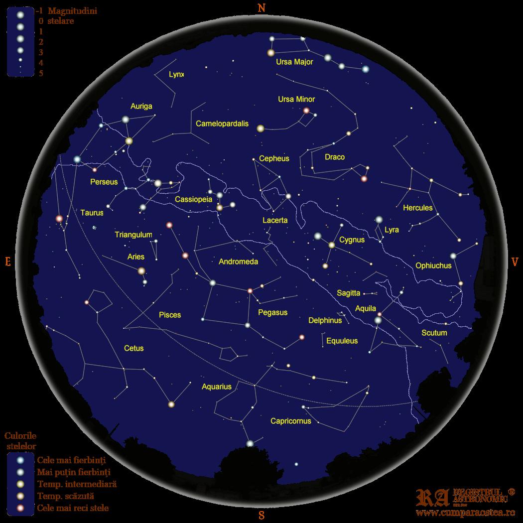 Harta Cerului în Noiembrie