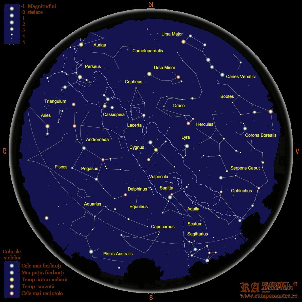 Harta Cerului în Octombrie