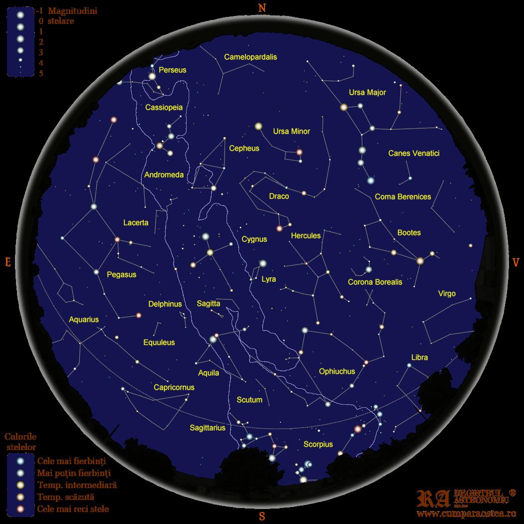 Harta Cerului în Septembrie